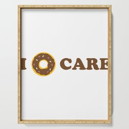 I Donut Care Foodie Pun Funny Food  Serving Tray
