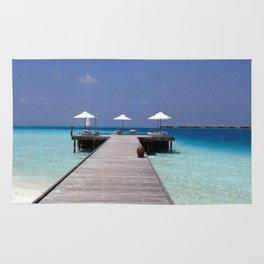 Jetty in the Indian Ocean Rug