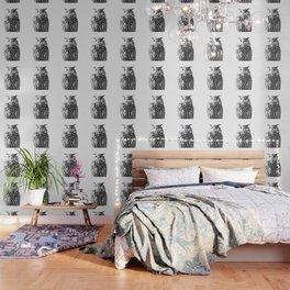 Owl on White #1 #animal #decor #art #society6 Wallpaper