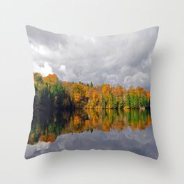 Fall Lake Throw Pillow