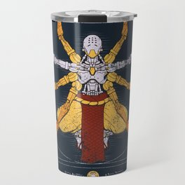 Vitruvian Omnic - color version Travel Mug