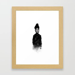 Woman in black Framed Art Print