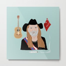 Willie Nelson & His Things Metal Print