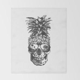 Pineapple Skull Head Throw Blanket