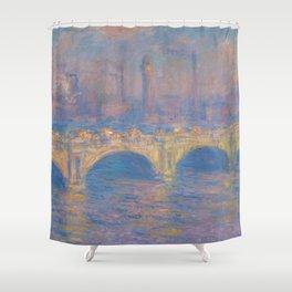 "Claude Monet ""Waterloo bridge"" Shower Curtain"