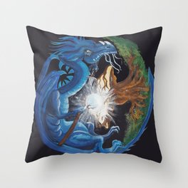 Dragon's Soul and the Tree of Life Throw Pillow