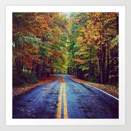 Hudson Valley Autumn Road Art Print