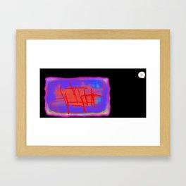 Icarus Christ - black Framed Art Print
