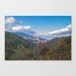 Blue Ridge Peaks Canvas Print