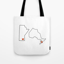 Winnipeg + Toronto Tote Bag