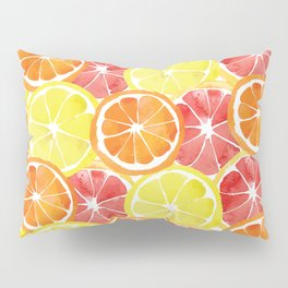 Grapefruit Lemon Orange Pattern Pillow Sham