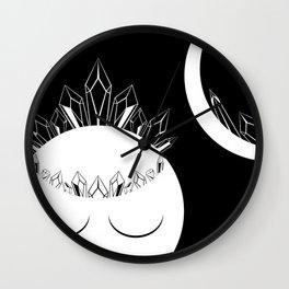 The Crystal Goddess Dark Wall Clock