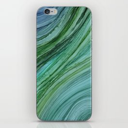 Green Agate Geode Slice iPhone Skin
