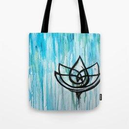 Lotus in the Rain I Tote Bag