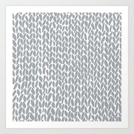 Hand Knit Zoom Grey Art Print