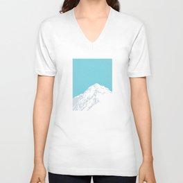 Snow Capped Mountain Unisex V-Neck