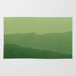 gradient landscape green Rug