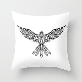 Dove Tribal Tattoo Throw Pillow