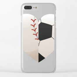 Soccer Baseball Heart Mom - Mothers Day Gifts Clear iPhone Case