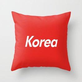 Korea Box Logo Throw Pillow