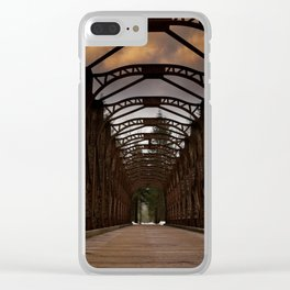 The Old Railway Bridge - Slovenia Clear iPhone Case