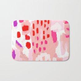 Wesli - minimalist pink purple white trendy millennial pink home decor canvas art Bath Mat