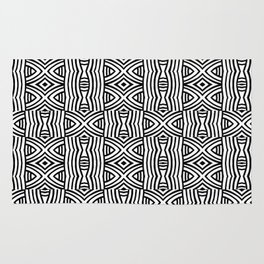 B&W #1, Interlacing pattern Rug