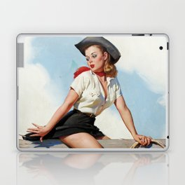 Pin Up Girl Cowgirl with Lasso Laptop & iPad Skin