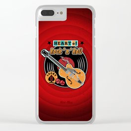 Heart of Rock 'n Roll Clear iPhone Case