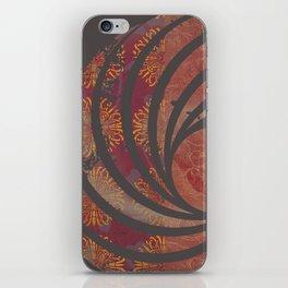 Caravans II:  Asian Print  Plum, gold, pink grey origami textile geometric design iPhone Skin