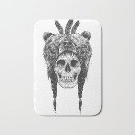 Dead shaman (b&w) Bath Mat