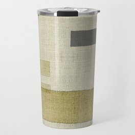 """Burlap Texture Natural Shades"" Travel Mug"