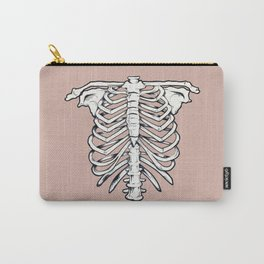 rib illustration tattoo design Carry-All Pouch