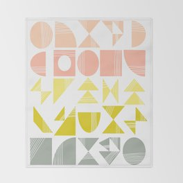 Organic Abstract Shapes in Soft Pastel Colors Throw Blanket