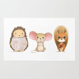 Hedghog, Mouse & Mr. Squirrel Rug