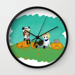 Chey & Cry Pumpkin Fest Wall Clock