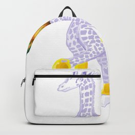 Thanksgiving Dinner - Midas is Ready - Christmas Lavender Giraffe - What does Midas do when Thanksgi Backpack