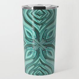 Metallic Engraved Ornament Travel Mug