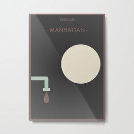 """Woody Allen """"Manhattan"""" Movie Poster Metal Print"""