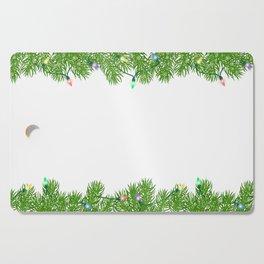 Christmas wreath Cutting Board