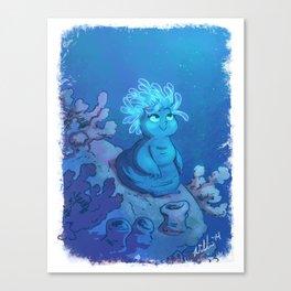 Anemone Mermaid Canvas Print