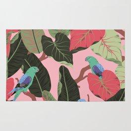 Sunny Hawaii Tropical Exotic Birds of Paradise Rug