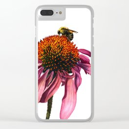 Coneflower Clear iPhone Case