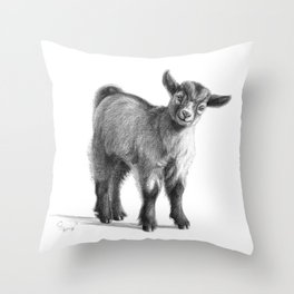 Goat baby G097 Throw Pillow