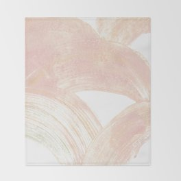 Pink Swipes Throw Blanket