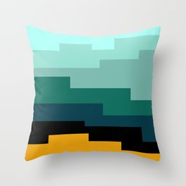 Summer 2016 In Turquoise Throw Pillow