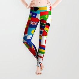 Flag Montage Leggings