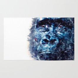 Monkey Watercolor painting Art Rug