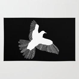 Bird (On Black) Rug
