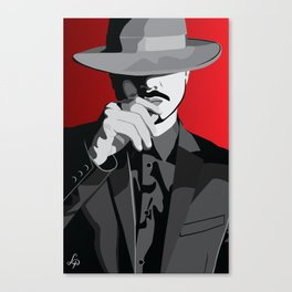 The Mysterious Gentleman Canvas Print